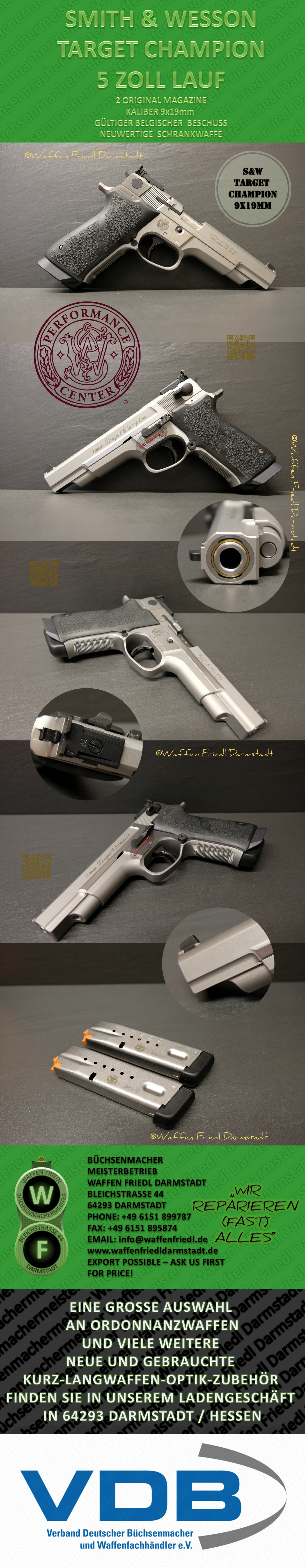 SMITH & WESSON TARGET CHAMPION 9x19mm
